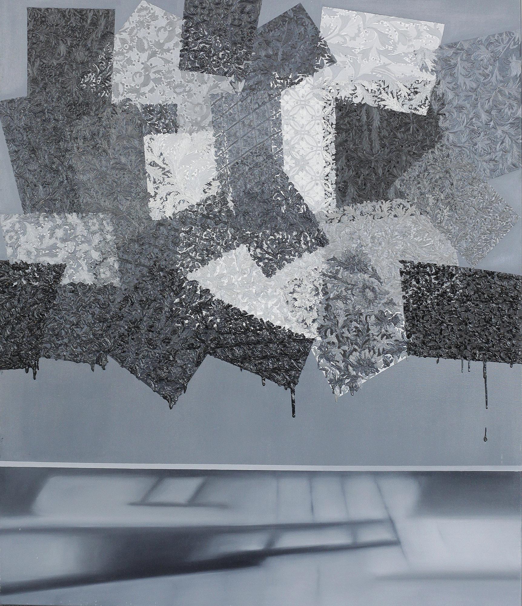 """Berenika Kowalska, """"Kolekcja VII"""", 2014, 130x110 cm, olej na płótnie (źródło: materiały prasowe)"""