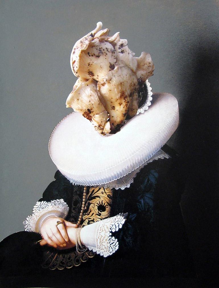 Ewa Juszkiewicz, bez tytułu, 2013, 30x40 cm, akryl, kolaż na papierze (źródło: materiały prasowe)
