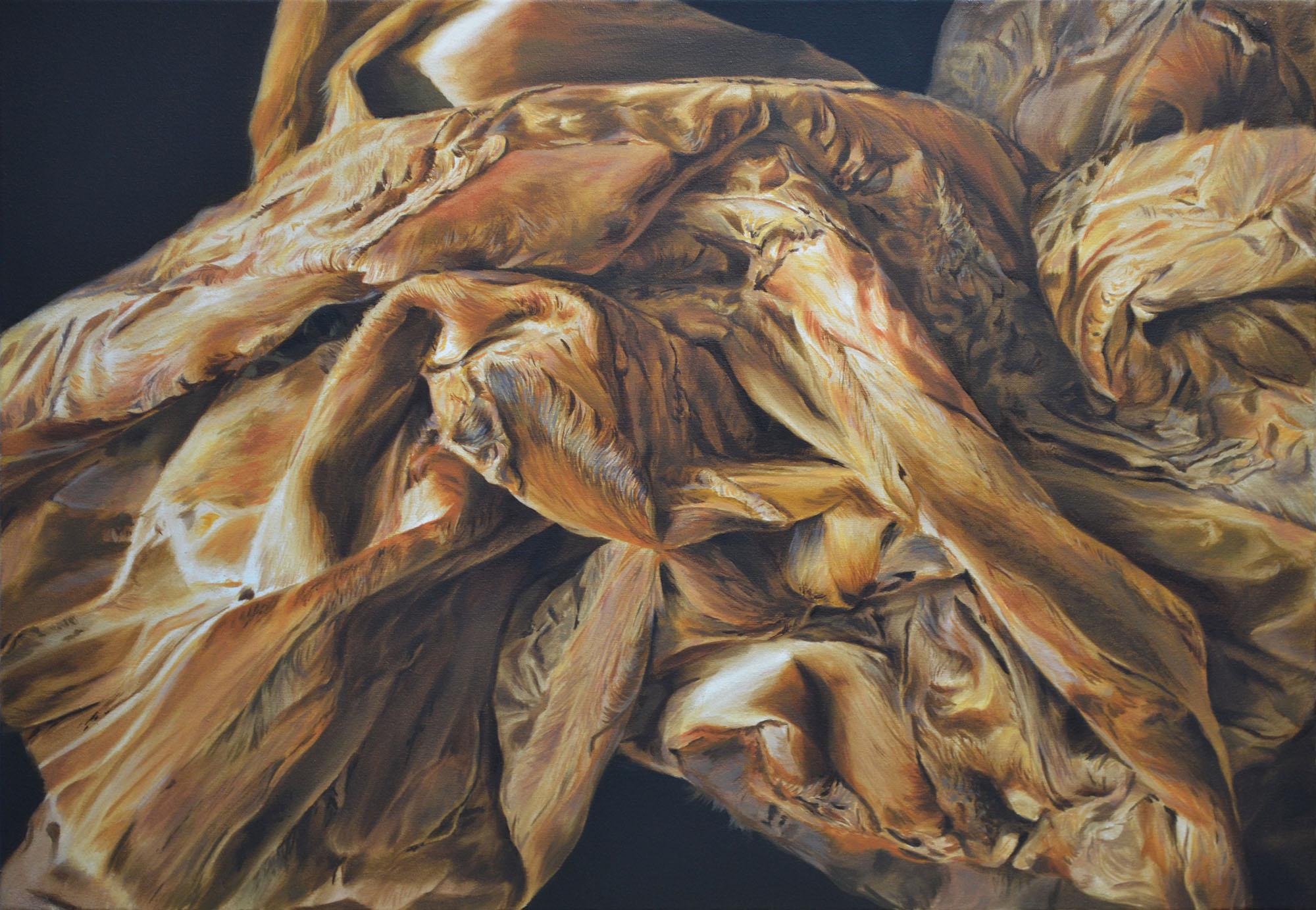 Martyna Borowiecka, bez tytułu, 2015, 50x70 cm, olej na płótnie (źródło: materiały prasowe)