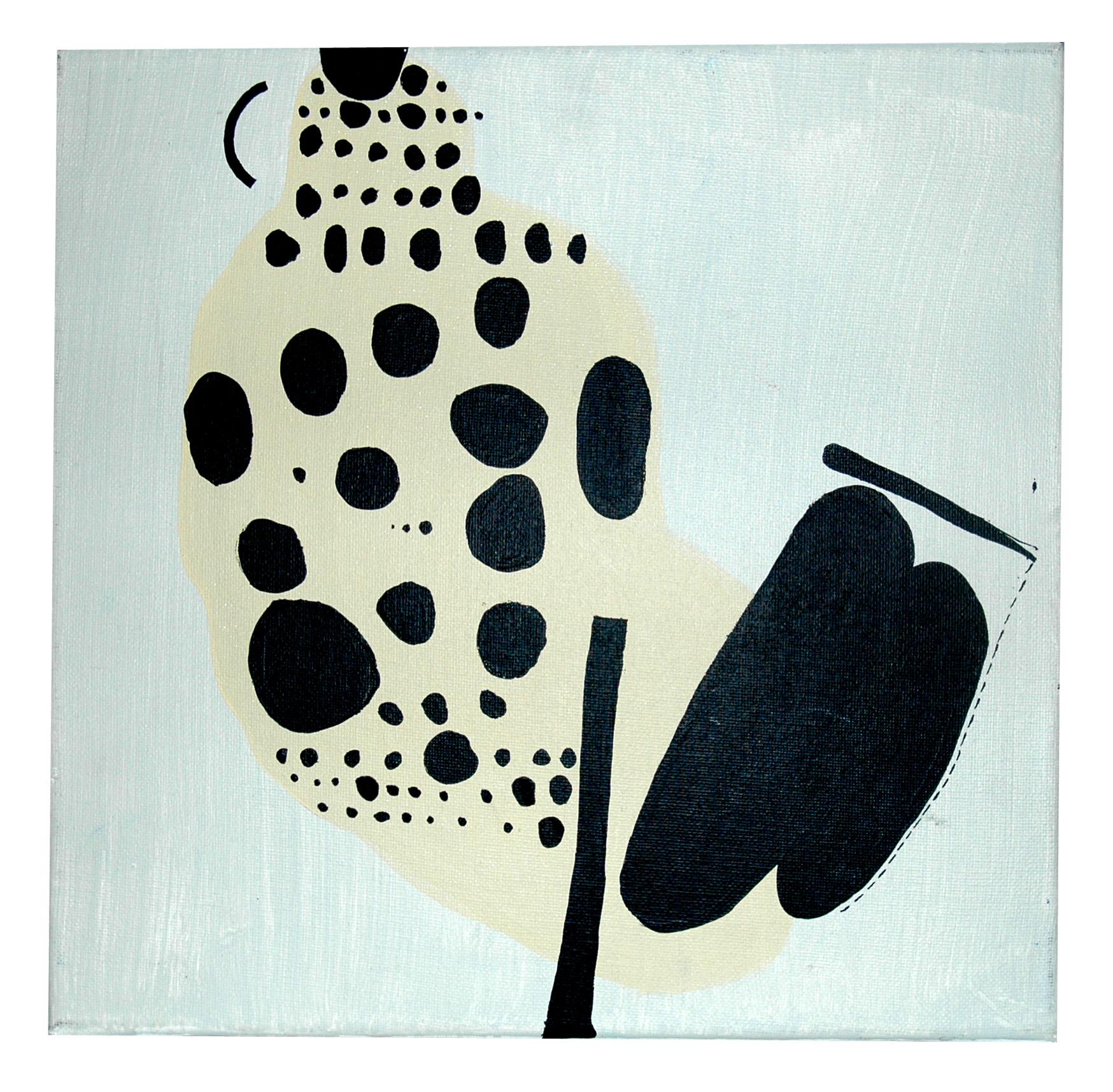 """Agnieszka Pietrzykowska, """"Kropki"""", 2011, akryl, płótno, 30x30 cm (źródło: materiały prasowe)"""