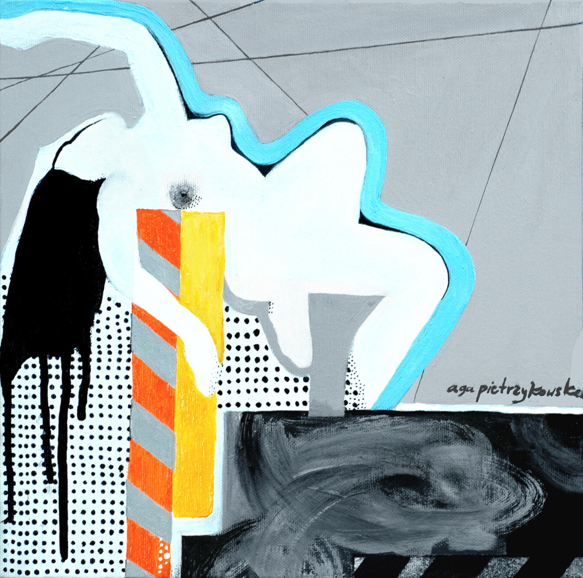 """Agnieszka Pietrzykowska, """"New York jest kobietą"""", 2014, akryl, płótno, 30x30 cm (źródło: materiały prasowe)"""