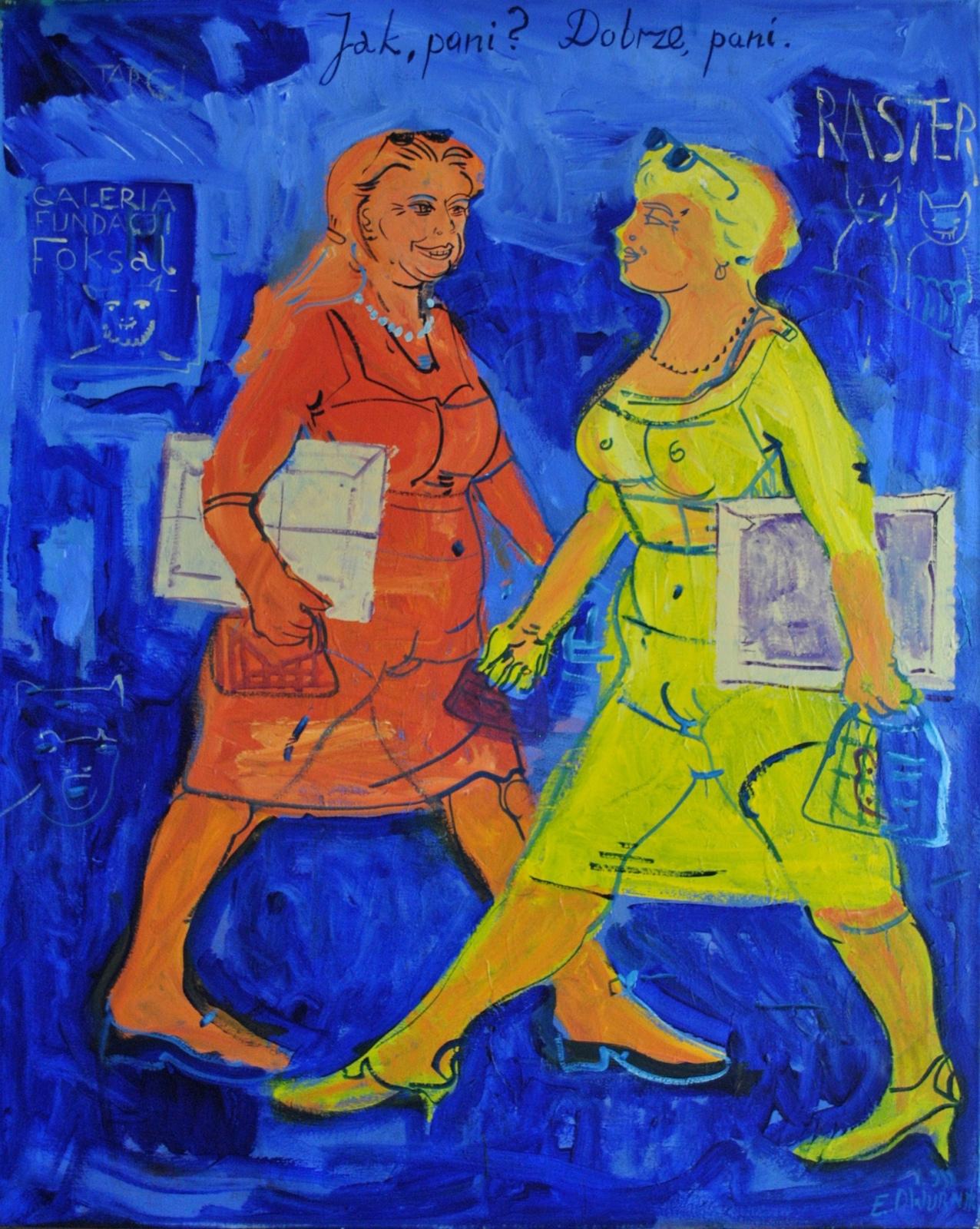 """Edward Dwurnik, """"Jak pani. Dobrze pani"""", 1999 (źródło: materiały prasowe organizatora)"""
