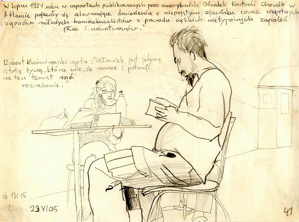 """Mariusz Tarkawian, """"Dużo rysunków"""" (źródło: materiały organizatora)"""