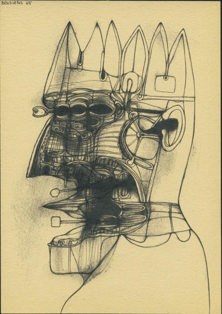 Zdzisław Beksiński, rysunek, 1965 (źródło: materiały prasowe organizatora)