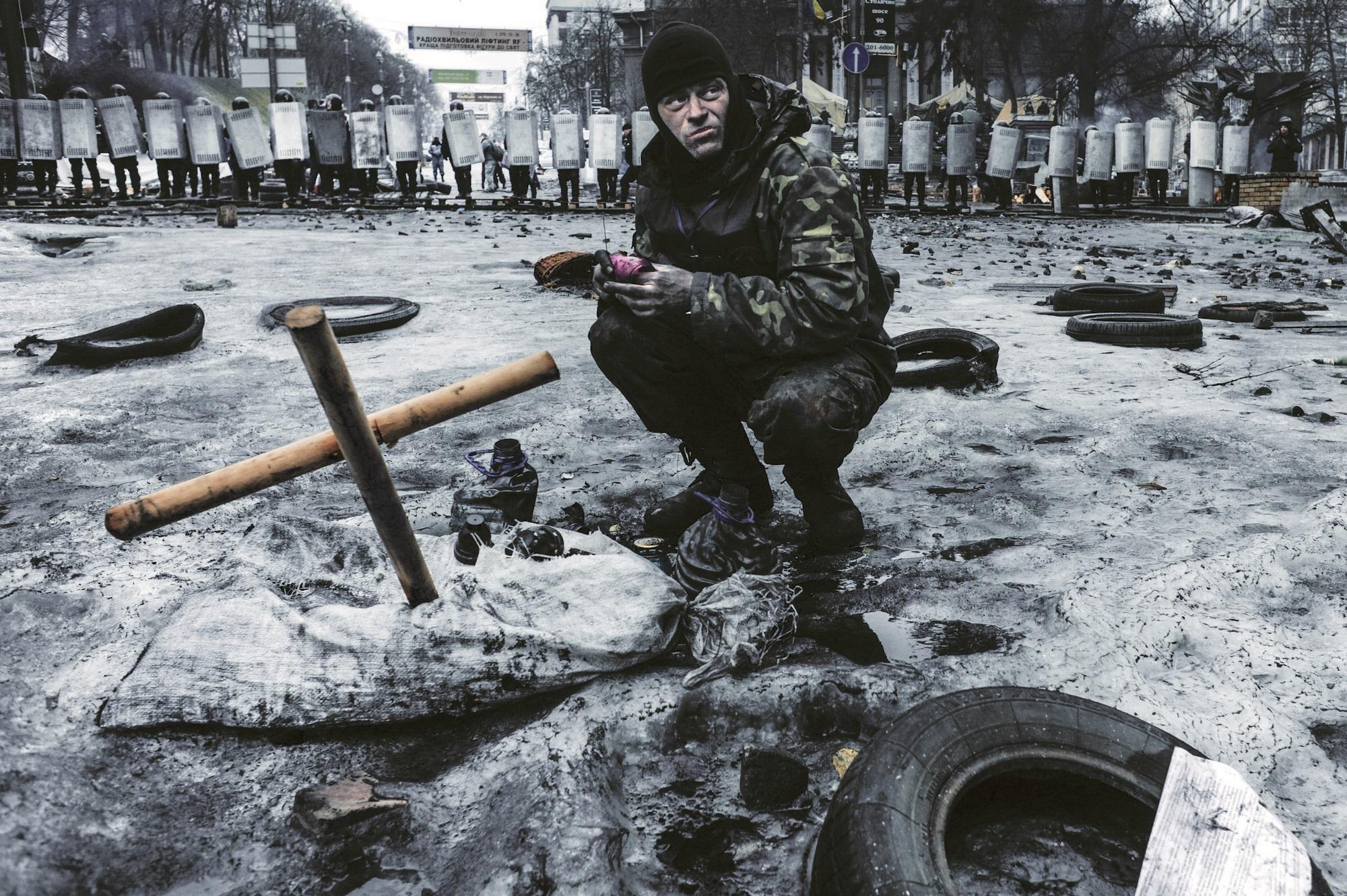 Majdan, Kijów, Ukraina, luty 2014. Fot. Jakub Szymczuk / Foto Gość (źródło: materiały prasowe)