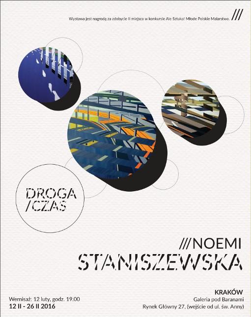 """Noemi Staniszewska. """"Droga / czas"""" – plakat (źródło: materiały udostępnione przez organizatora)"""