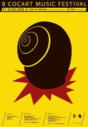 """8. CoCArt Music Festival"" – plakat (źródło: materiały prasowe organizatora)"