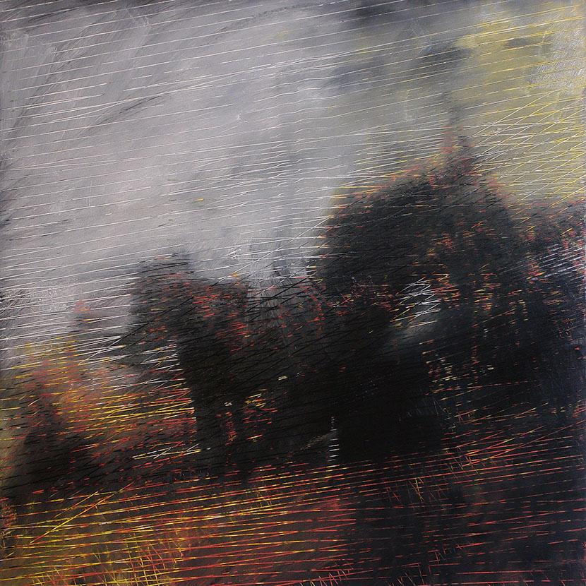 """Bartosz Czarnecki, """"W polu III"""", 2015, 120x120 cm, olej na płótnie (źródło: materiały prasowe)"""