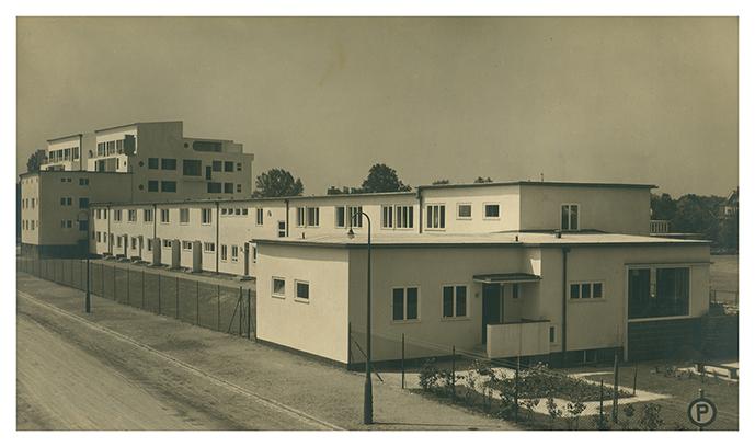 Dom nr 9– 22, szeregowy dom czynszowy, widok od ulicy, proj. Emil Lange (9), Ludwig Moshamer (10-12), Heinrich Lauterbach (13-15), Moritz Hadda (16, 17), Paul Häusler (18-20), Theo Effenberger (21, 22) © Muzeum Architektury we Wrocławiu, MAt IIIb-533/6 (źródło: materiały prasowe organizatora)