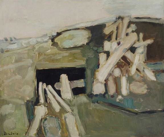 """Tadeusz Dominik, """"Sielanka wiejska"""", 1962, fot. Erazm Ciołek, dzięki uprzejmości Galerii aTAK (źródło: materiały prasowe organizatora)"""