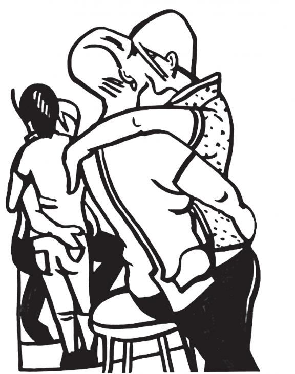 """Victoria Lomasko, """"18+"""", 2014–2015, rysunki, pokaz slajdów (źródło: materiały prasowe organizatora)"""