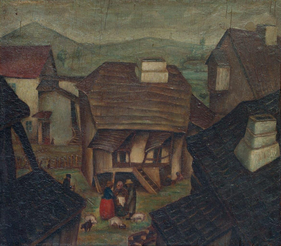 """Bolesław Cybis, """"Widok Kazimierza"""", 1925, z kolekcji prywatnej (źródło: materiały prasowe organizatora)"""