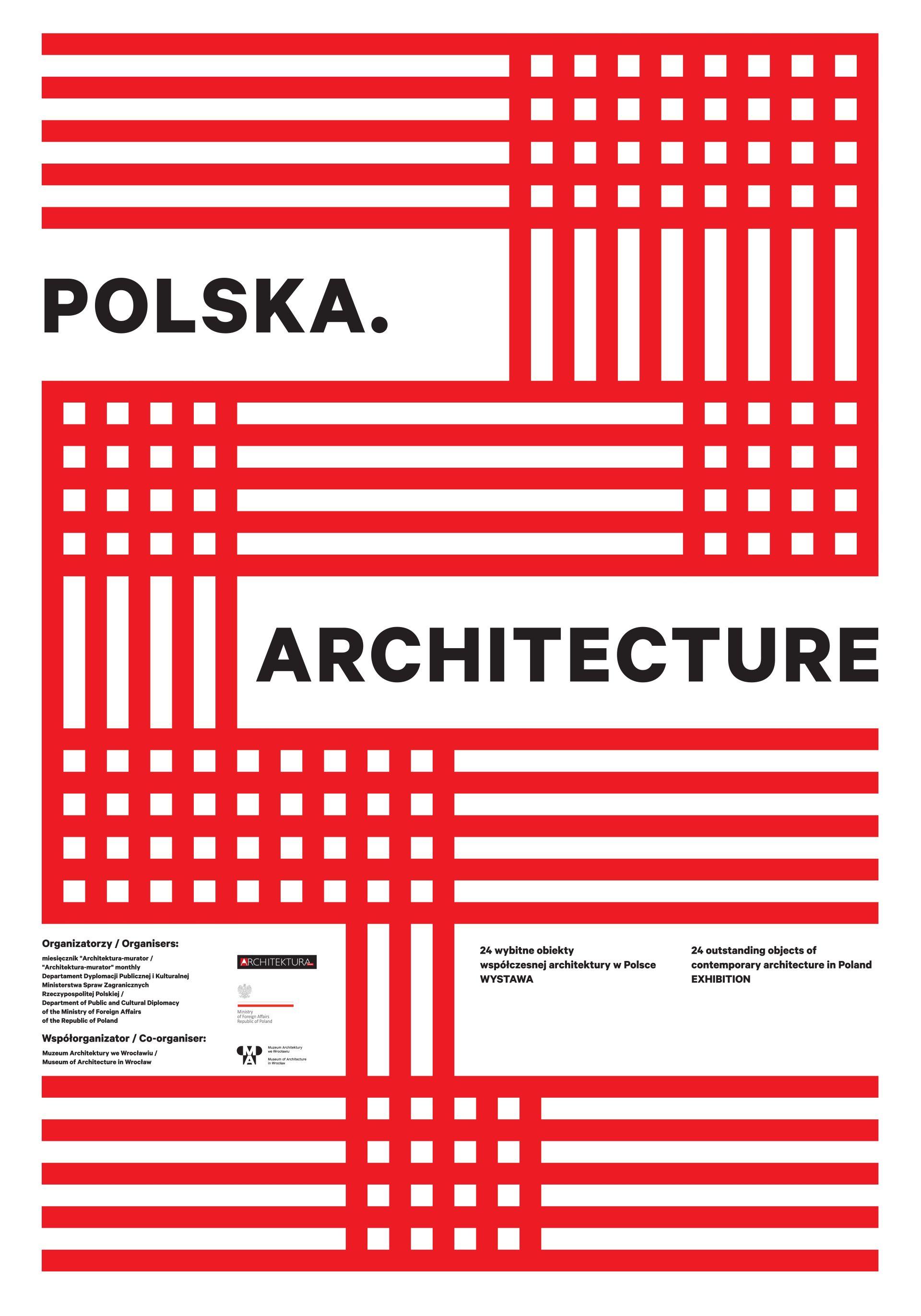 """""""Polska. Architecture – promocja Polski poprzez architekturę"""" – plakat (źródło: materiały prasowe)"""