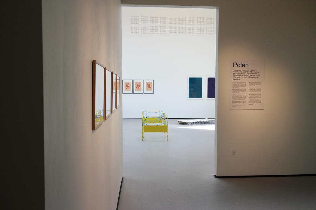 """""""Jeune Création Européenne. Biennale Młodej Sztuki Europejskiej"""" – widok wystawy (źródło: materiały prasowe organizatora)"""