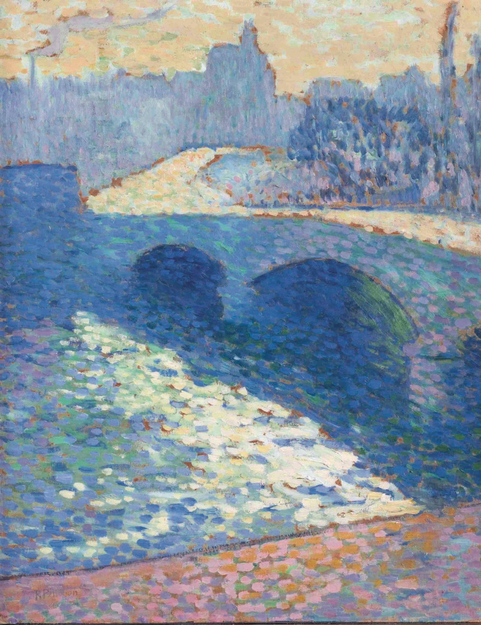 """Robert-Antoine Pinchon, """"Sekwana w Rouen o zmierzchu"""" (1905) (źródło: materiały prasowe Muzeum Narodowego w Gdańsku)"""