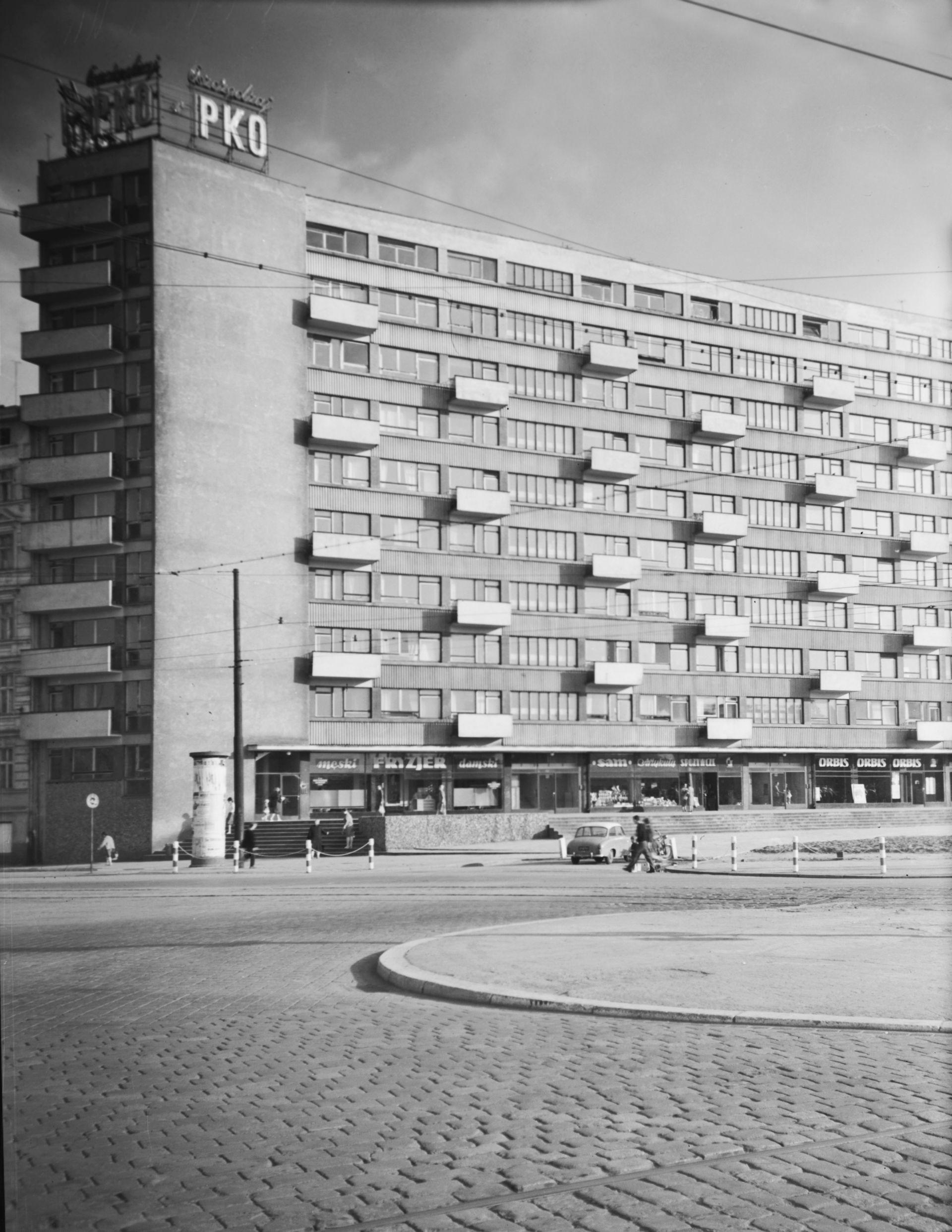 Dom Naukowca przy placu Grunwaldzkim, 1959–1961, projekt 1956, fot. Janina Mierzecka, Muzeum Architektury (źródło: materiały prasowe organizatora)