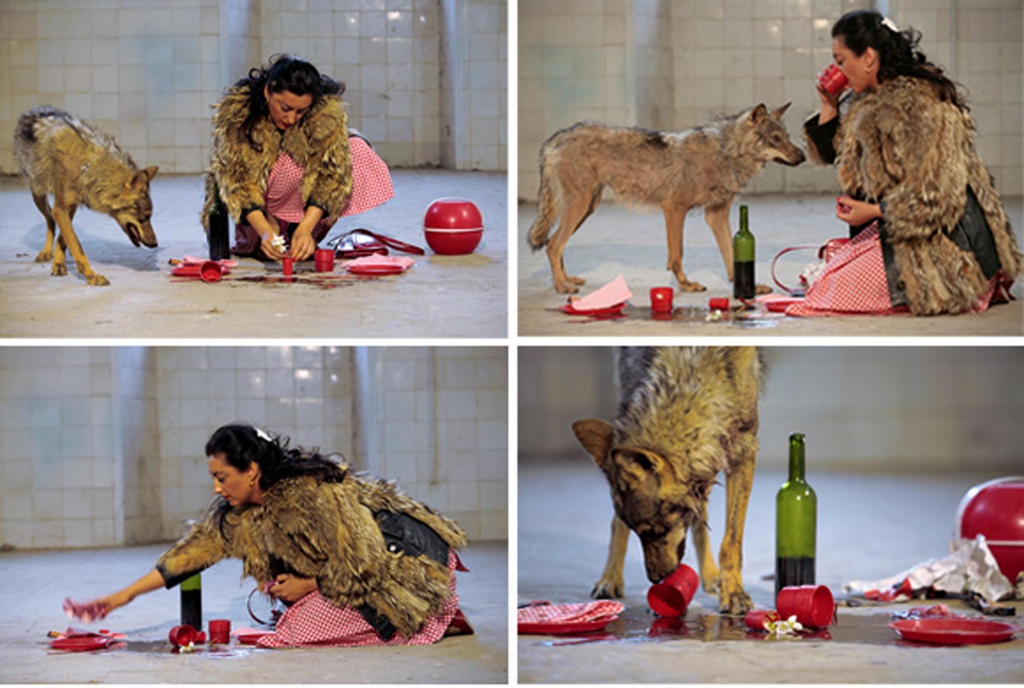 """Pilar Albarracín, """"She-wolf"""", 2006, wideo, 2 min. 47 sek. © Muzeum Współczesne Wrocław (źródło: materiały prasowe organizatora)"""