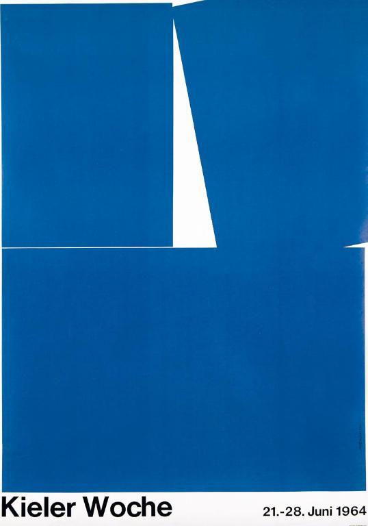 Hans Hillmann, Tydzień Kiloński, 21–28 czerwca 1964 roku. Srebrny medal na 1. Międzynarodowym Biennale Plakatu w 1966 roku (źródło: materiały prasowe organizatora)