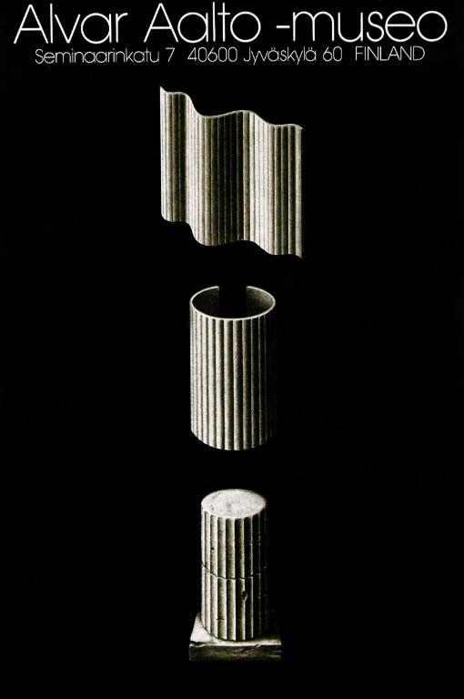 Jyrki Markkanen, Muzeum Alvara Aalto, 1984. Srebrny medal na 11. Międzynarodowym Biennale Plakatu w 1986 roku (źródło: materiały prasowe organizatora)