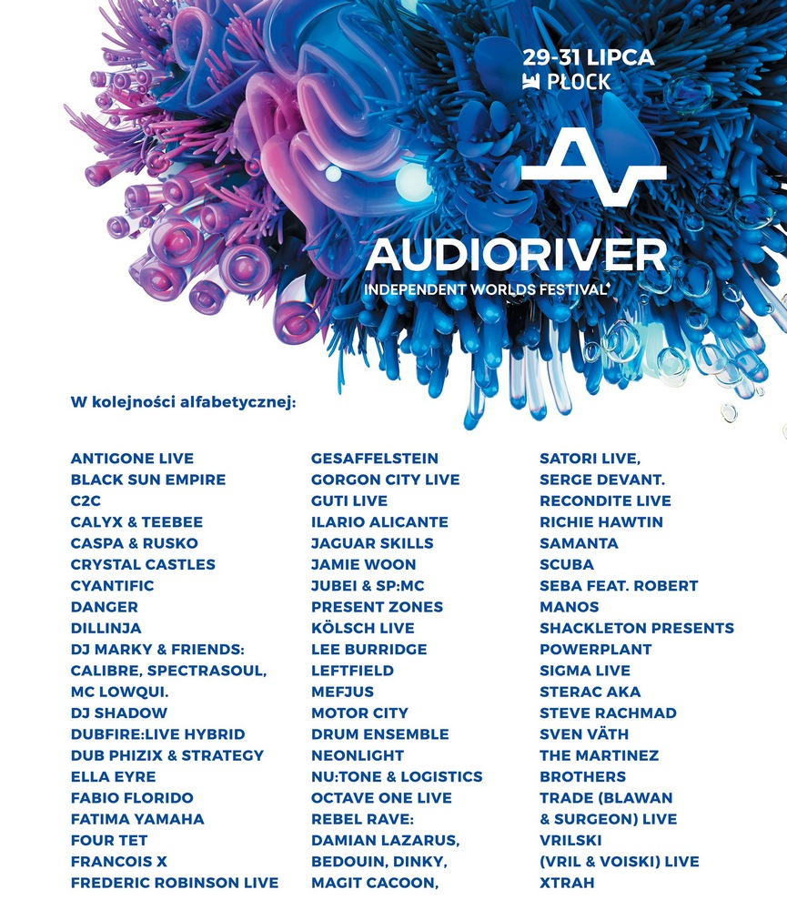 Audioriver 2016 – plakat (źródło: materiały prasowe organizatora)