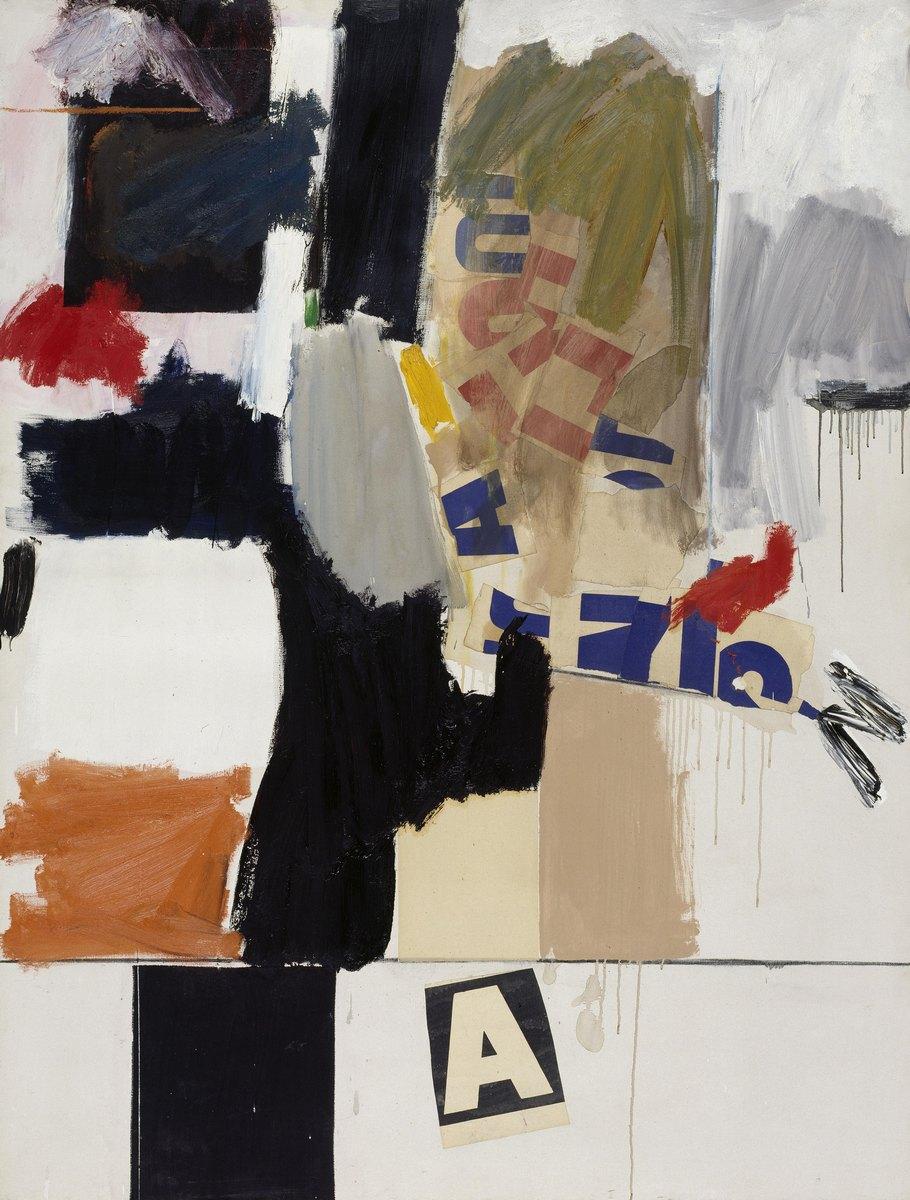 "Robert Rauschenberg, ""Summer Rental + 3"", 1960, © bpk/Nationalgalerie im Hamburger Bahnhof, SMB, Sammlung Marx, © Robert Rauschenberg Foundation / VG Bild-Kunst, Bonn 2016. Zdjęcie: Jochen Littkemann (źródło: materiały prasowe organizatora wystawy)"