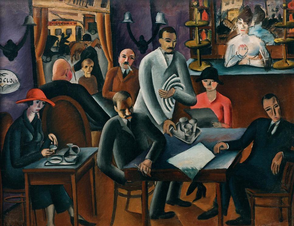 "Gejza Schiller, ""W kawiarni"", 1924, Východoslovenská galéria Košice (źródło: mat. pras. organizatora)"