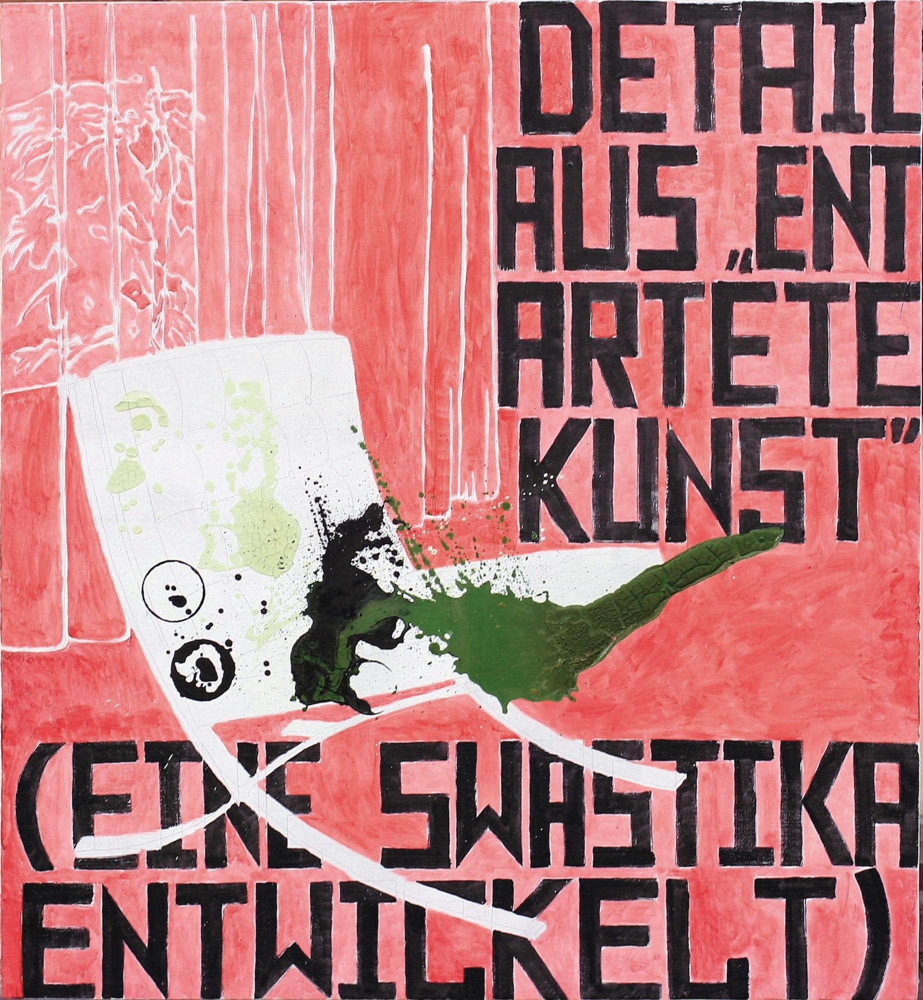 """Marek Sobczyk, """"Entartete Kunst. Mies van der Rohe. Barcelona Sessel MR90"""", 2006, tempera jajkowa na płótnie, 136 x 125 cm (źródło: materiały prasowe organizatora wystawy)"""