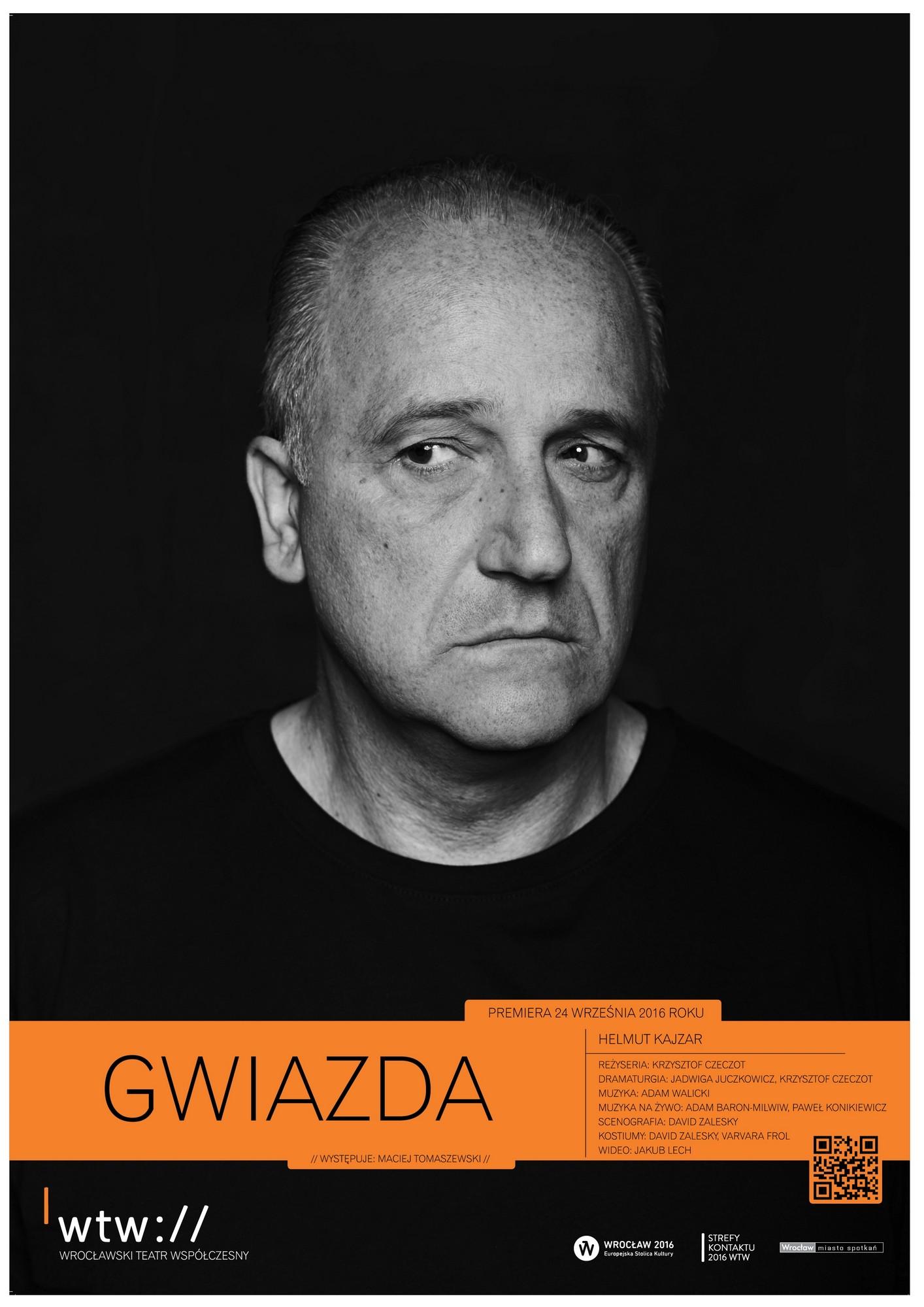 """Helmut Kajzar: """"Gwiazda"""", reż. Krzysztof Czeczot, plakat (źródło: materiały prasowe WTW)"""