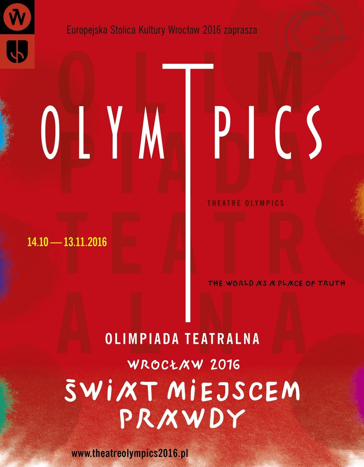 """""""Olimpiada Teatralna"""" – plakat (źródło: materiały prasowe organizatora)"""