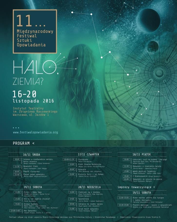 11. Międzynarodowy Festiwal Sztuki Opowiadania, plakat (źródło: materiały rasowe organizatora)