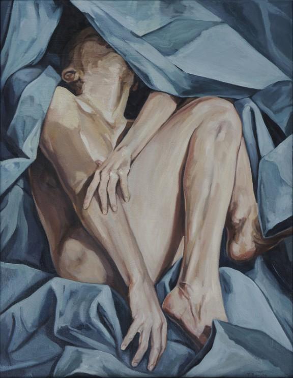 """Tadeusz Boruta, """"Pieta"""", 2003, olej na płótnie, 90 x 70 cm (źródło: materiały prasowe organizatora)"""