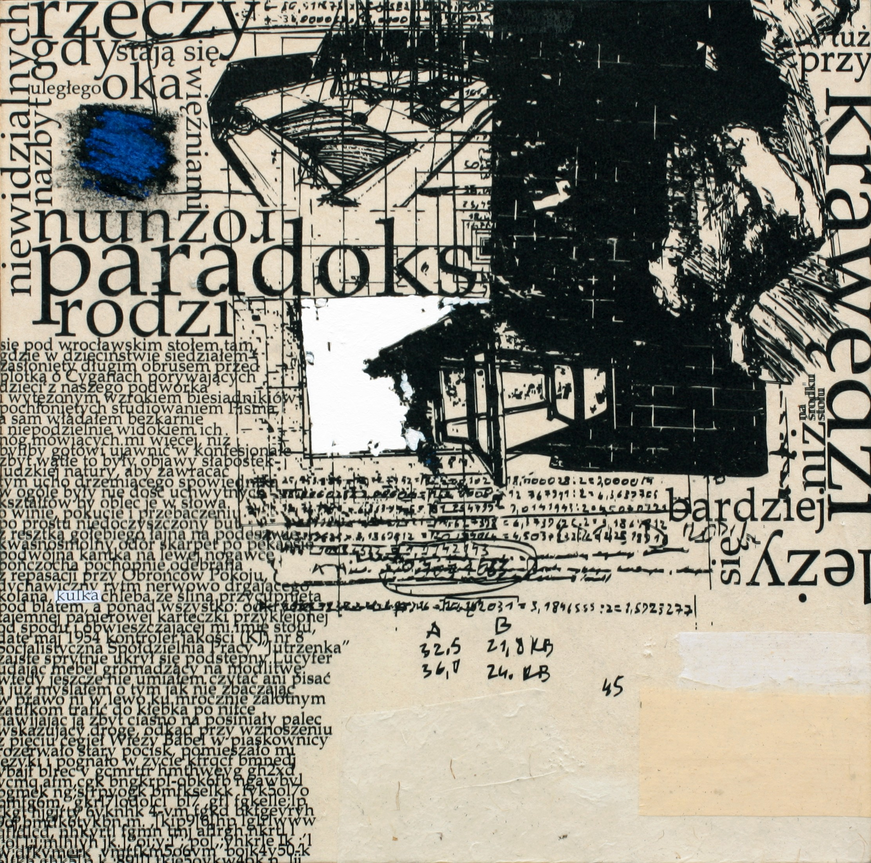 """Andrzej Bednarczyk, """"Wiersze labiryntowe (Ósmy)"""", 2011, dzięki uprzejmości artysty (źródło: materiały prasowe organizatora wystawy)"""