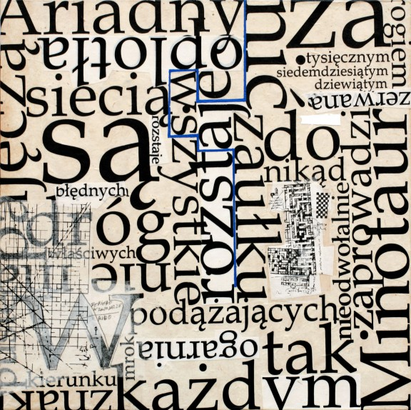 """Andrzej Bednarczyk, """"Wiersze labiryntowe (Piąty)"""", 2011, dzięki uprzejmości artysty (źródło: materiały prasowe organizatora wystawy)"""