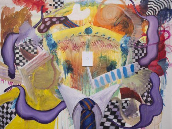 """Philippe Rębosz, """"And all my friends are dead"""", akryl i olej na płótnie, 2017 (źródło: materiały prasowe organizatora)"""