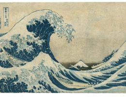 """Katsushika Hokusai """"Pod wielką falą w pobliżu Kanagawy"""" (źródło: materiały prasowe organizatora)"""