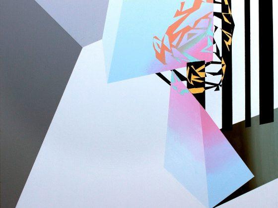 """""""Marcin Kowalik"""", Kasjer, 2017, 60 x 60 cm, akryl na płótnie (źródło: materiały prasowe organizatora)"""