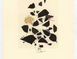 """Eugeniusz Get Stankiewicz, Tadeusz Różewicz, teka """"cd. Nauki chodzenia"""", 20 kart, technika mieszana, 2006–2008, Karta 11 (źródło: materiały prasowe organizatora)"""