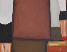 """Jerzy Nowosielski, """"Gimnastyczka"""", 1950, olej, płótno, fot. Erazm Ciołek (źródło: materiały prasowe organizatora)"""