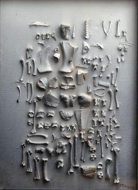 """Jonasz Stern, """"Wyniszczenie"""", 1978, technika mieszana, fot. Erazm Ciołek (źródło: materiały prasowe organizatora)"""