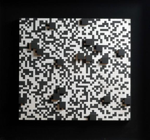 Ryszard Winiarski, Bez tytułu, 1971, akryl, płyta pilśniowa, fot. Erazm Ciołek (źródło: materiały prasowe organizatora)