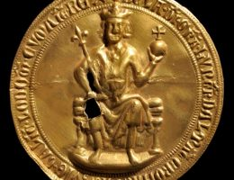 Złota Bulla króla Beli IV, 1235–1270, w zbiorach Magyar Nemzeti Múzeum (Węgierskie Muzeum Narodowe w Budapeszcie) (źródło: materiały prasowe organizatora)