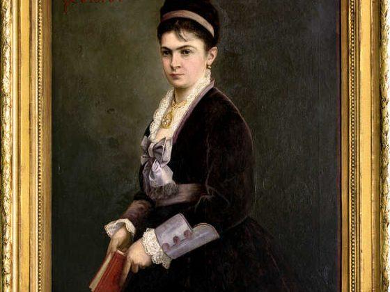 Portret Antoniny Hoffmann autorstwa Julesa Vallenta, 1875, wł. MHK (źródło: materiały prasowe organizatora)