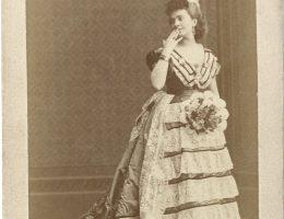"""Antonina Hoffmann w roli tytułowej w """"Beatrix Cenci"""" J. Słowackiego, fot. W. Rzewuski, 1872, wł. MHK (źródło: materiały prasowe organizatora)"""