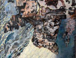 """Danuta Leszczyńska-Kluza, """"Creator"""", 1992, olej, płótno, 180x120 cm (źródło: materiały prasowe organizatora)"""