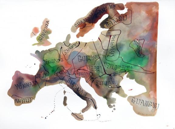 """Jacek Sroka, """"Chinuropa"""", 2010, 57x77 cm (źródło: materiały prasowe organizatora)"""