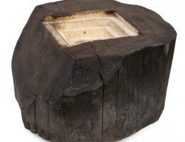 """Leszek Oprządek, """"Kres puszczy"""", 2016, drewno, 44x65x70 cm (źródło: materiały prasowe organizatora)"""