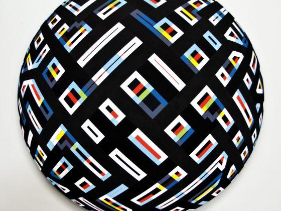 """Adam Szntpetery, """"Deformacja IV"""", 2011, olej / płótno, 190 x 190 cm (źródło: materiały prasowe organizatora)"""