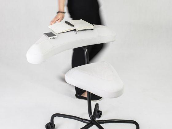 """Agnieszka Wlaź, """"Krzesło do pracy w ruchu"""" (źródło: materiały prasowe organizatora)"""