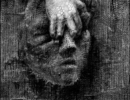 """Beata Kornicka-Konecka, z cyklu """"Maski 2"""", 4 prace, 1998, 0łówek, 50×49 cm (źródło: materiały prasowe organizatora)"""