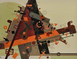 Ján Vasilko, Projekt dla Muzeum Sztuki Współczesnej w Koszycach 2013, wersja 9, 2009, akryl / płótno, 180 x 250 cm (źródło: materiały prasowe organizatora)